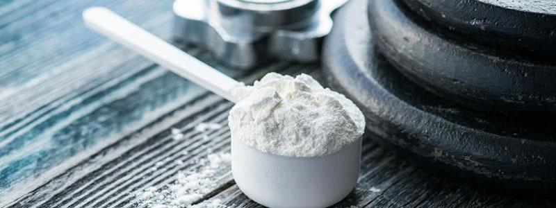 Scoop of creatine monohydrate